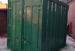зеленый железнодорожный контейнер 5 тонн бу фото